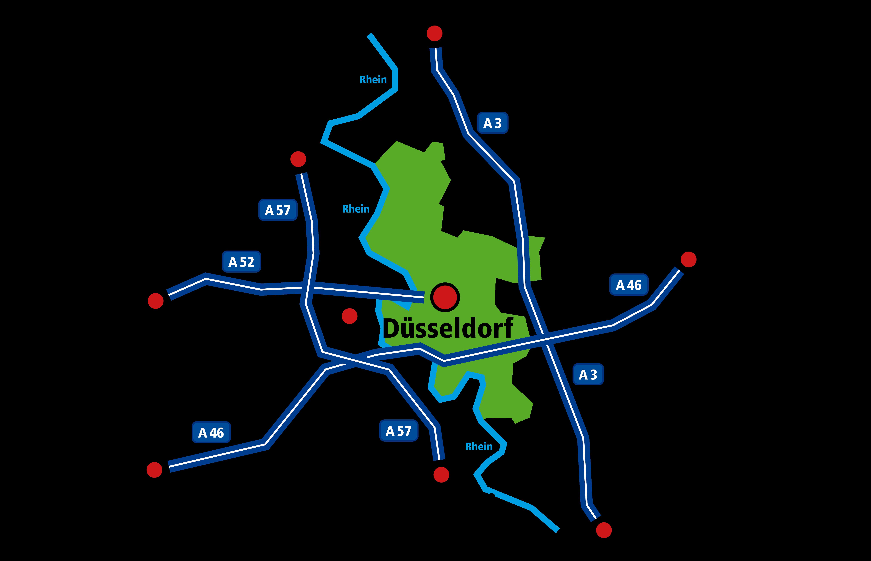 Standortkarte Düsseldorf