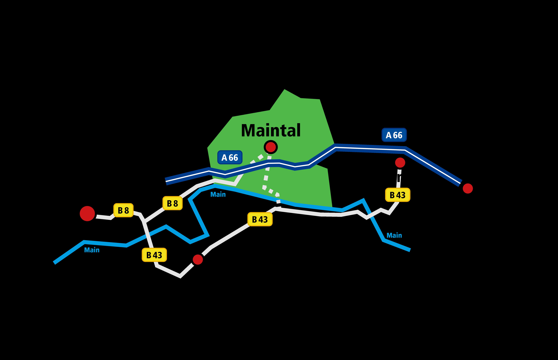 Standortkarte Maintal