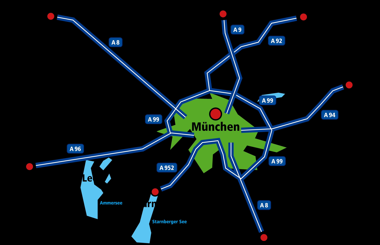 Standortkarte München