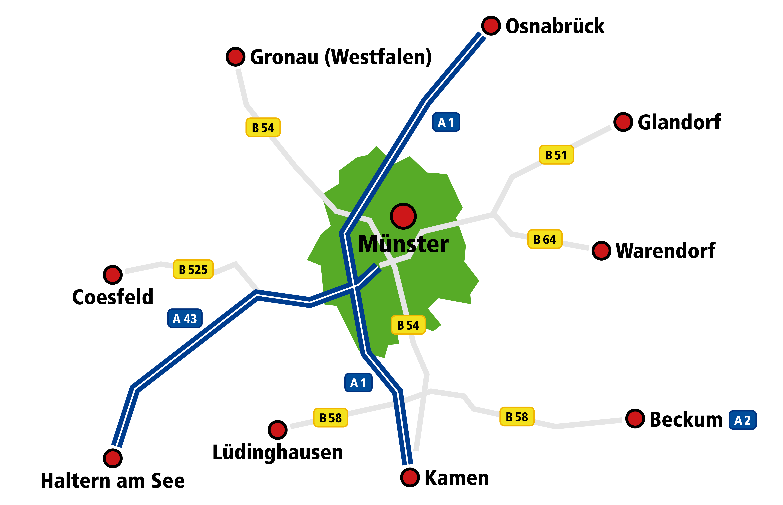 Standortkarte Münster
