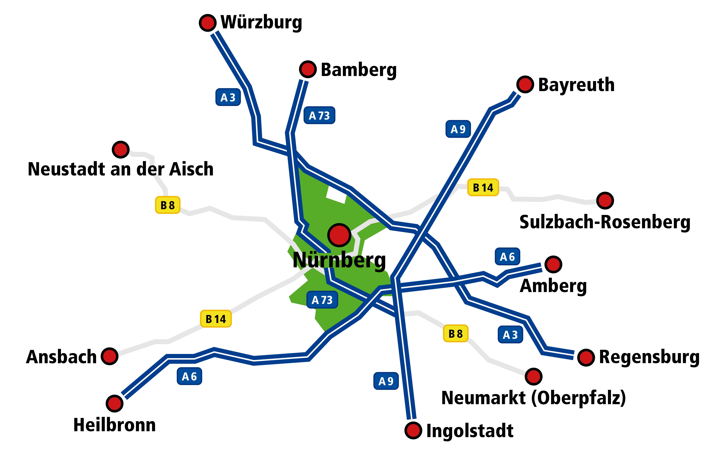 Standortkarte Nürnberg