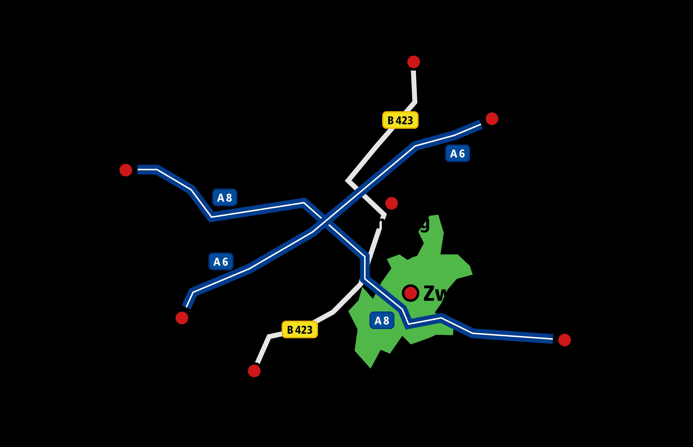 Standortkarte Zweibrücken
