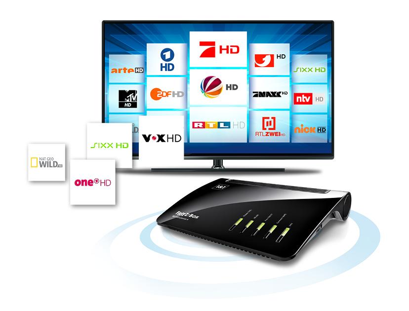 TV-Gerät und DSL-Router